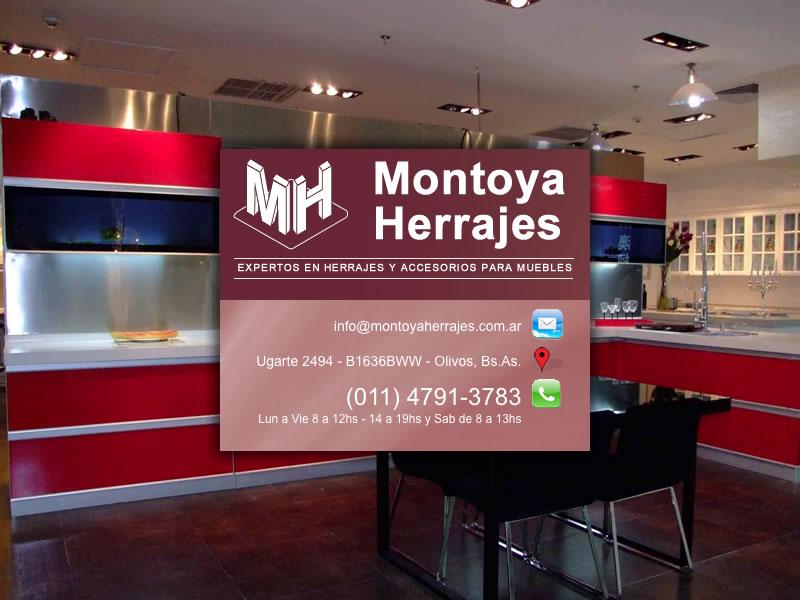 Montoya herrajes srl expertos en herrajes y accesorios for Herrajes para muebles de oficina